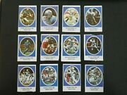 1972 Sunoco Football Stamps Detroit Lions Complete Set All 24 Stamps