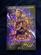 Avengers End Game Cast Signed 8x12