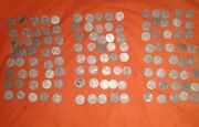 Lincoln Wheat Penny Coin Lot - 1943 War Steel Cents - 40 Each P D S Mint 120