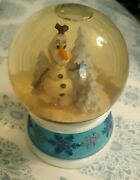 Disney's Frozen Olaf Snowglobe By Kcare Plays Let It Go Preowned