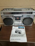 Sanyo Mm9935k Stereo Boombox Portable Cassette Tape Recorder