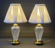 Waterford Crystal Millennium Pair Of 18 Lamps Made In Ireland
