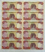 Iraqi Dinars 10 X 25,000 = 250000 crisp And Uncirculated - Active And Authentic