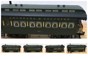 Aristo Craft G Scale Colorado And Southern 3 Passenger 1 Observation 1 Baggage