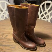 Womens Frye 77050 Campus Leather Boots Size 9 M Color Saddle Brownandnbsp 350