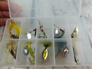 Plano Clear Frosted Double Sided Box With Some Lures And Spinners As Pictured