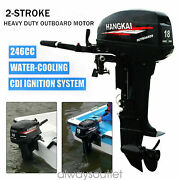 New Hangkai 18hp 2 Stroke Outboard Motor Boat Engine W/ Water Cooling Cdi System