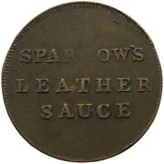 Great Britain Farthing Token Sparrow Leather Sauce London T38 277