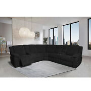 Modern 7 Piece Living Room Set Sectional With Ottomansofa And Chaise W/cup Holder