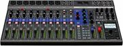 Zoom Zoom Digital Mixer 12ch Live Track 14 In / 4 Out Usb Audio Interface [manu