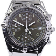Breitling Chronomat Longitude Gmt A20048 Black Dial Automatic Menand039s Watch_640510