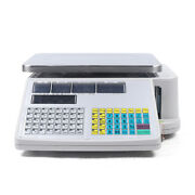 30kg 66lbs Portable Digital Price Computing Produce Count Weight Scale +printer