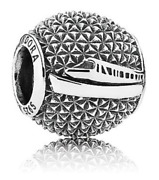 New Disney Pandora Park Exclusive Epcot Spaceship Earth And Monorail Bead Charm