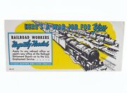 """Undocumented Wwii Era Recruitment Plate 81 Railroad Workers Needed 8"""" X 3.5"""""""