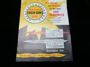 Vintage Paper Advertising Remington Chainsaw Giant Thermometer Order Form Dupont