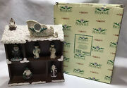 Vintage 1998 Enesco Belsnickle Linda Lundquist Shadow Box And 5 Figurines