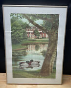 John A. Ruthven Reflections Mallard Ducks Framed, Signed, And Numbered /300