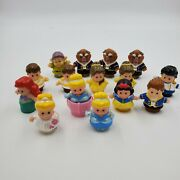 Little People Disney Lot Of 15 Figures Fisher Price Princess