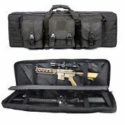 Tactical Rifle Gun Case Soft Padded Double Range Carry Bag Storage Molle Hunting