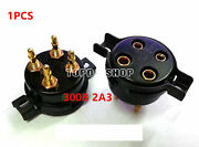 Bakelite 4-pin Four-pin Gold-plated Tube Socket For 300b 2a3 811 274a 1pcs