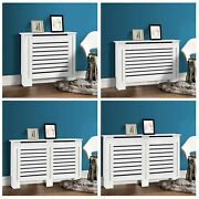 Radiator Cover White Traditional Mdf Wood Grill Shelf Cabinet Modern Furniture