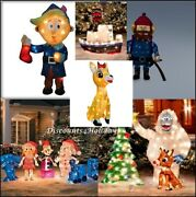 Rudolphand039s Misfit Toy 12-pc Set Rare Animated Bumble Christmas Yard Pre Lit Decor