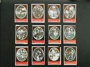 1972 Sunoco Football Stamps Cleveland Browns Complete Set All 24 Stamps