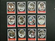 1972 Sunoco Football Stamps Chicago Bears Complete Set All 24 Stamps