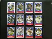 1972 Sunoco Football Stamps New York Giants Complete Set All 24 Stamps