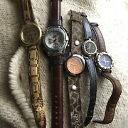 Lot Of Vintage Wrist Watches, Bands Nike Guess Coach
