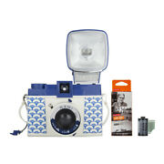 Lomography Diana F+ Camera And Flash Nami Edition With Bandw 35mm 3 Pack Film