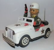 Vintage Mp Military Police Jeep Daiya Japan Tin Litho Battery Operated Toy Works