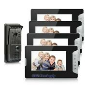 New Wired Video Door Intercom System Night Vision Unlock Vandalproof 1-out 4-in