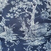 Sherry Kline Country Toile Indigo King Comforter W/ Shams Blue French Country