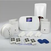 Lcd Wirelessandwired Gsm Sms Home Security Alarm System +4pet Friendly Pir Sensors