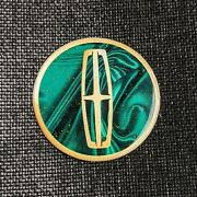 Green/gold Lincoln Dayton Wire Wheel Chips Emblems Decals Set Of 4 Size 2.25in
