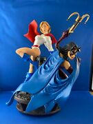Power Girl And Huntress Legacy Statue With Coa 2007 Low Number New Dc Comics