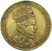 France Medal Louis Xiii. Reims 1610 Gold Plated 31mm T53 431