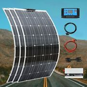Complete Solar Panel System Battery Charger 300w Rv Boat Car Home Roof 12v Set