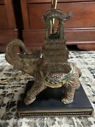Offers Accepted Beautiful Elephant Table Lamp New Cord Installed