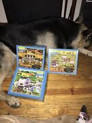 Lot Of 3 Charles Wysocki 1000 Piece Puzzles As Is