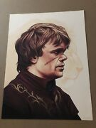 Mike Mitchell Tyrion Lannister Game Of Thrones Portrait 12 X 16 Signed And Num