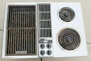 Vintage Jenn Air Down Draft 28.5 Electric Cooktop W Swappable Grill -stainless