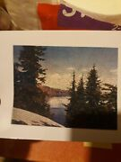 Vintage Madmar Wooden Jigsaw Puzzle 300pc A Glimpse Of Crater Lake Utica, Ny
