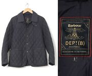 Mens Barbour Dept.b Birch Quilt Quilted Jacket Navy Blue Size S
