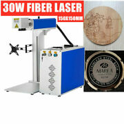 30w Fiber Laser Engraver Marking Machine Fit Ezcad Electric Lifting+ Rotary Axis