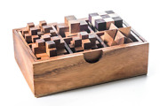 6 Wooden Mechanical Puzzles, Perfect Gift For Kids Who Have Solved Rubik's Cube