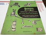 Vintage 1950's Lowell Farm Garden Sprayers And Dusters 30 Pg Dealer Price Catalog