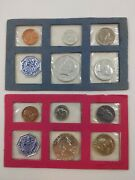 1962 And 1964 Us Mint Silver Proof Sets- 10 Coins Total Rare Half W/o Ogp As Is Fs