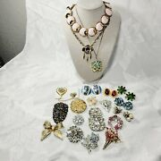 Vintage Antique Jewelry Lot Brooches, Estate Sale